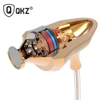 Écouteurs D'origine QKZ DM5 Dans L'oreille Écouteurs 3.5mm Super Stéréo Casque audifonos Pour iPhone Samsung Avec Micro fone de ouvido
