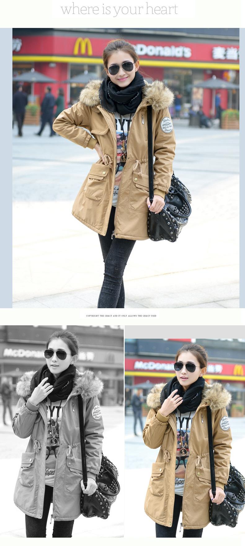 معطف السيدات متوسطة الطويلة 9