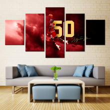 5 Piece Poster  Basketball Famous Star Michael Jordan Chicago Bulls Fashion Gifts Wall Art Oil Painting Hot Sale