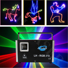 Outdoor RGB animation DJ laser light / High power Christmas party laser show/ OEM wholesale full color animation laser(China)