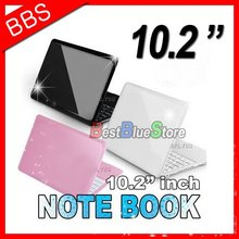 "Drop Shipping 10"" WiFi mini computer laptop Netbook Windows CE 6.0 or android 4.0 CPU 600MHz 4GB (black,pink,white colour)"