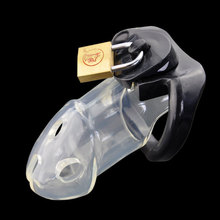 Buy Chastity Cock Male Penis lock Cages Men's Virginity Lock 3 Size Penis Ring Penis Lock Cock Ring Chastity Men chastity lock