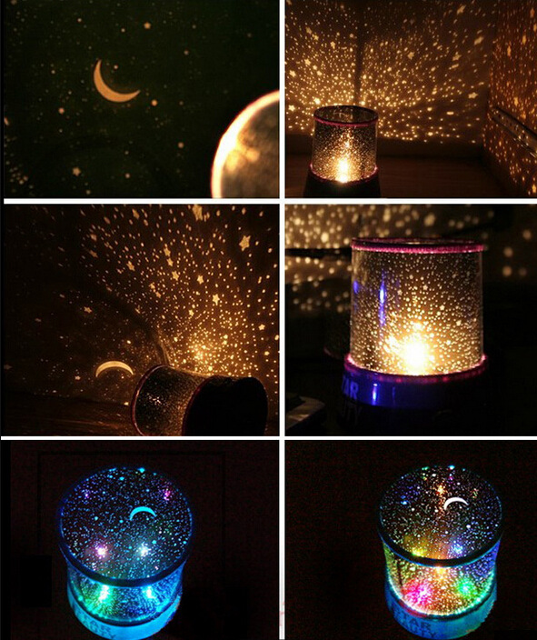 Colorful Night Sky Stars Projector