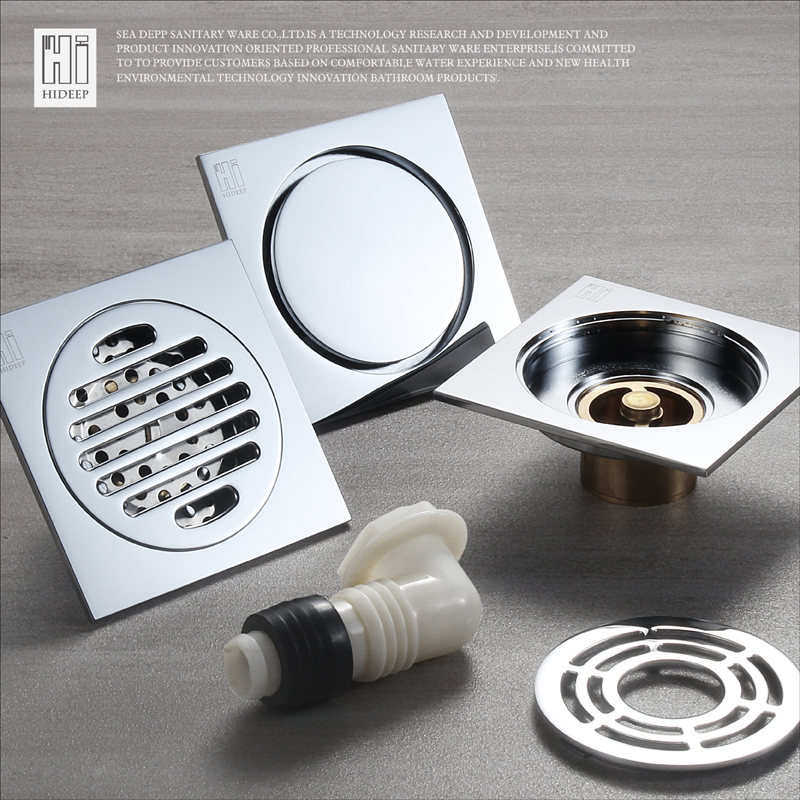Beau HIDEEP Floor Drain Cover Colander Shower Waste Drainer Full Brass Bathroom  Kitchen Colander Floor Drains Bathroom