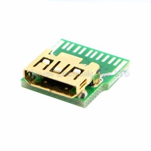 5pcs/lot HDMI C type female connector with PCB board test board(China)