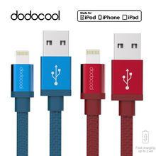 2Pcs dodocool MFI Lightning Cable for iPhone 6 7 iPad iPod Fast Charging Lightning to USB Charger Data Cable For iPhone Cable 1m