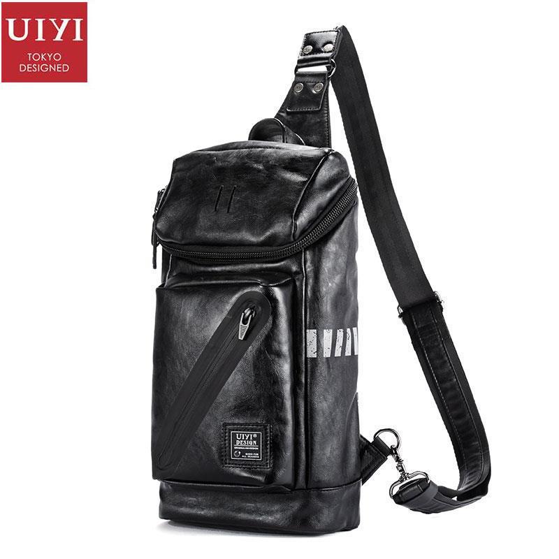 UIYI Messenger Bags Small PU Leather Handbag Men Casual Shoulder Crossbody Travel Sling Satchel Bags Chest Teenagers 160165<br>