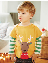 New 2017 Branded 100% Cotton Baby Boys t shirts Kids Clothing Clothes Children Long Sleeve t-shirts Boys Blouse Undershirts Boys(China)