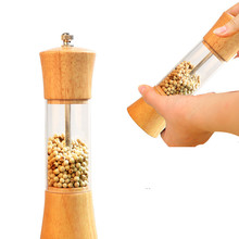Home Pepper Mill High Quality Oak Wood Hand-operated Pepper Mill Ceramic Core Salt Mill Hotel Food Grinder BBQ Tool Kitchen Tool