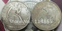 1872-CC Seated Liberty Silver Dollar Coin COPY FREE SHIPPING(China)