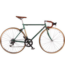 Road Bicycle Fixed Gear Bike 52CM Promotion Diy Complete Bike, Retro frame plating frameType - Payi Profession Cycling Store store