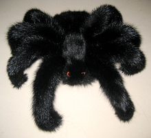 Personalized spider mink keychain real fur pauk pravda accessories pendant Auto interior Decoration Cool young room furnishings
