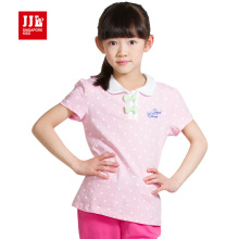 girls polo shirts short sleeve kids summer polos brand kids print t shirt size 4-11t children clothing kids clothes