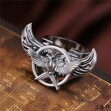 Julie Store Moive The Hunger Games Symbol Rings Angel Wings Rotatable ring 2017 New Design Unique Charm Men Jewelry Accessories
