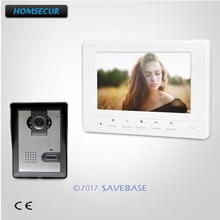 HOMSECUR 7inch Wired Video Door Entry Phone Call System with Intra-monitor Audio Intercom(China)