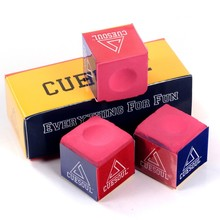 Cuesoul 3pcs Snooker Billiard Chalk Oil Dry Billiard Pool Cue Stick Chalk Snooker Billiard Accessories Pink Color