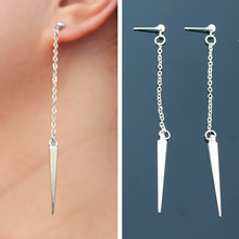 ES2032 Long Tassel Drop Earrings Punk Spike Fashion Jewelry boucle d'oreille Women Dangle Brincos Rock pendientes 2017 Steampunk
