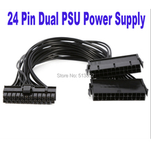 24Pin Power Supply Synchronizer Male to Female ATX Mining 30cm 24 Pin Dual PSU Extension Cable for Computer Adaptor for Mining(China)