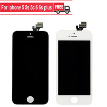 Grade AAA LCD For iPhone 6 5 5s 5c 6s plus Display With Digitizer Touch Screen Bezel Frame Assembly White Black LCD for iphone6