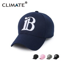 CLIMATE Cool Men Women 3D B Logo Baseball Caps Unisex Adjustable Sport Cap Amazing Nice Pink Navy Black Color Hats For Men Women