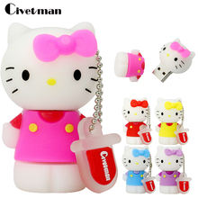 Hello Kitty USB flash drive cartoon 32GB 16GB pen drive 8GB pendrive 4GB flash card usb 2.0 flash memory stick 128GB U disk