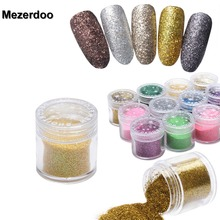 5g/Box Holographic Laser Powder Nail Glitter Rainbow Mermaid Manicure Chrome Pigments Holo Glitter 24 Colors
