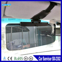 New Car Accessories Car Windshield Sun shade Goggles Auto Retractable Side Sunscreen Shade Car SunVisor Black SD-2302(China)