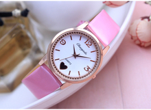 Retail 1pcs Mixed Color Leather Lady Girl Bracelet Wristwatch Children Cartoon Beautiful Watches Xmas Gift(China)