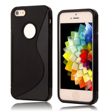 For iphone5c New S LINE Anti Skid Silicone Gel TPU Slim Soft Plastic Back Cover For apple iphone 5c Rubber Matte Protect Case