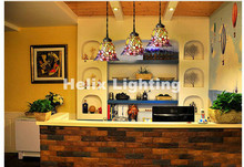 Free Shipping Tiffany Novelty 1L and 3L Pendant Child Bedroom Pendant Lamp for Balcony Home Decoration AC E27 100% Guaranteed