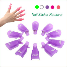 10 PCs Plastic Nail Art Soak Off Cap Clip UV Gel Polish Remover Nail Wrap Tool Cleaner Nails Wipes Cleanser Prep Sale