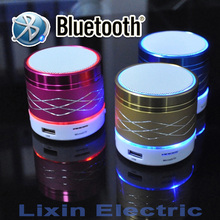 2016 New LED Light Portable Mini Metal Steel Wireless Bluetooth Speaker Music Amplifier with FM Radio MP3 Player Support SD Card