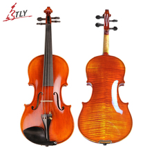 TONGLING Brand High-end Professional Violin 20 Years Old Naturally Dried Stripes Maple Hand-craft Spirit Varnish Violin 4/4