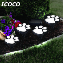 ICOCO Solar Power Bear Claw Lamp Clever Night Light Outdoor Garden Lantern LED Landscape Light Home Garden Dec Drop Shipping(China)