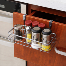 Multifunctional Iron Over Door Storage Rack Practical Kitchen Cabinet Drawer Organizer Door Hanger Storage Basket Kitchen Tools