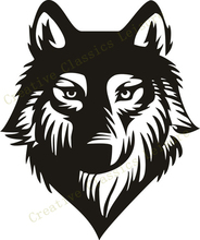 Free Shipping WOLF Wall Decoration Wild life Vinyl Decal, WOLF Wall Tattoo for car truck wall Art Decor(China)