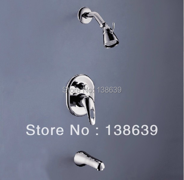Factory Sale Brass In-wall Shower Set chrome plated Hotels round Rain Shower Head Bathroom Showers<br><br>Aliexpress