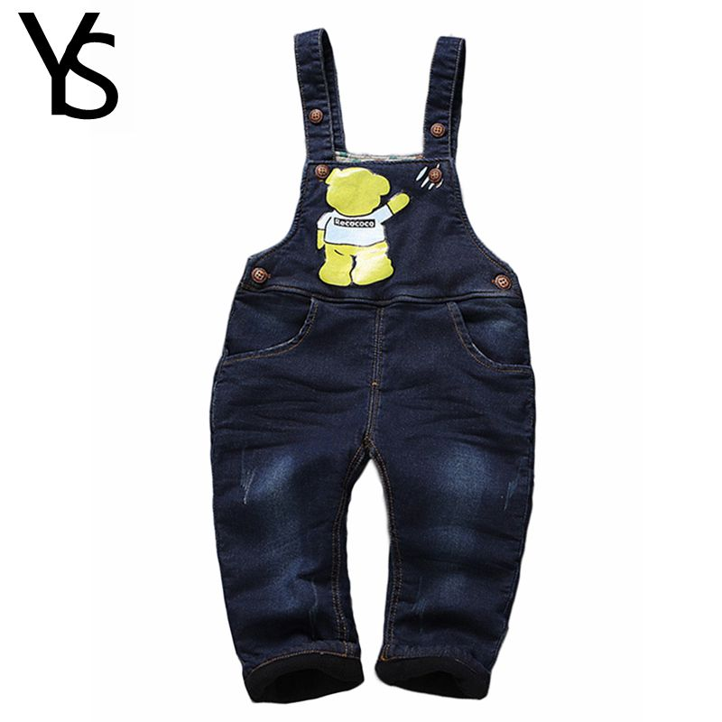 Winter Warm Velvet Top Quality 6m- 4Years Baby Jeans Overalls  Infant Long Pants Baby Toddler Girls Boys  jumpsuit Rompers 1869<br><br>Aliexpress