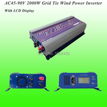 2017 Hot Selling 2000W Three Phase AC45V~90V Input, AC 230V Output SUN-2000G-WAL-LCD-48V Grid Tie Wind Power Inverter