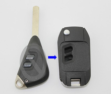 2 Buttons Replacement Modified Flip Folding Remote Key Case Shell For Subaru Legacy Outback With DAT17 Uncut Blade Fob Key Cover(China)