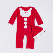 YK&Loving Red Newborn Girl Warm Rompers Long Sleeve Cotton Baby Girls Jumpsuit 2017 Winter New Xmas Kids Clothes Christmas Gift