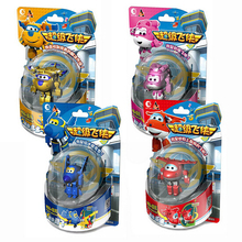NEW hot 4pcs/set Superwings Super Wings deformation robot Building blocks collectors action figure toys Christmas gift doll