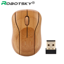 New Arrival 16000DPI 2.4G USB Receiver Optical Computer Wireless Mouse Creative for PC/Laptop/Desktop handmade Bamboo With Box
