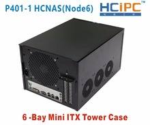 HCiPC 6Bay Mini ITX Tower Case,6Bay NAD HDD Enclosure,P401-1 HCNAS(Node6),6bay NAS Server