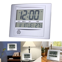Wall Clock La Crosse Technology WT-8002U Digital LCD Wall Hanging Clock With Snooze and User Manual