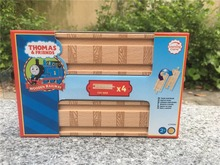 "TT03-- Learning Curve Thomas & Friends 4pcs 6"" Straight Wooden Tracks For Take N Play Thomas trains New(China)"