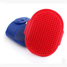 Hot New Pet Rubber Grooming Massage Hair Removal Bath Brush Glove Dog Cat Hair Comb