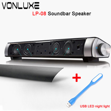 Upgraded Version LP-08 Boombox Amplifiers Bluetooth Soundbar TV Sound Bar TF Card HiFi Subwoofer Computer Speaker for Phone