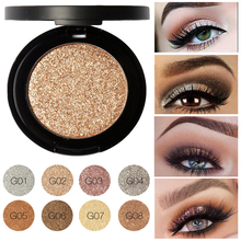 New Professional Glitter Eyes Pigment Single Eyeshadow Palette Minerals FOCALLURE Makeup Eye Shadow Waterproof