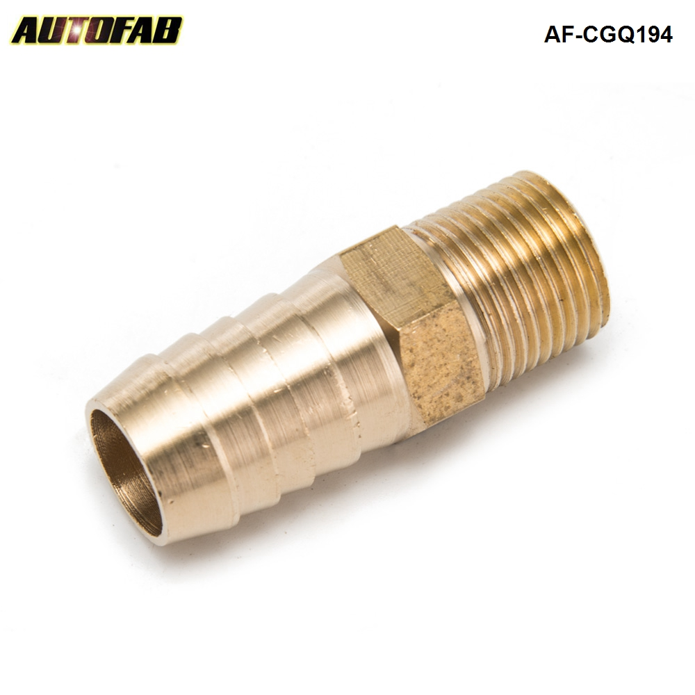 "AUTOAFB - New Brass Barbed Fitting Coupler 5/8"" Hose Barb x 3/8"" Male NPT Fuel Gas Water AF-CGQ194"